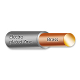 Zinc plated brass wire